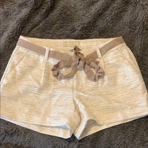 BANANA REPUBLIC Gold detail shorts